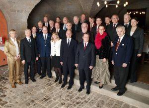 Die Gründungsmitglieder des Lions Club Kronach Festung Rosenberg   bei der Gründungsfeier im Zeughaussaal